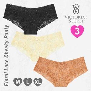 3 VS Lace Cheeky Panties